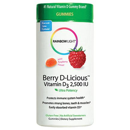 Rainbow Light Vitamin D3 2,500 IU Gummies, Raspberry 50 ea-RBL115317