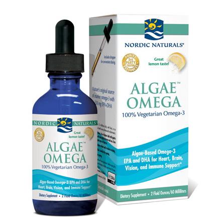 Nordic Naturals - Algae Omega Oil 100% Vegetarian Omega-3 Lemon - 2 oz.-NOR117413