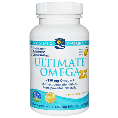 Nordic Naturals - Ultimate Omega 2X Lemon 2150 mg. - 60 Softgels-NOR151357