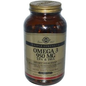 Solgar Triple Strength Omega-3 950 mg (100 Softgels)-SOL112909 10/2018