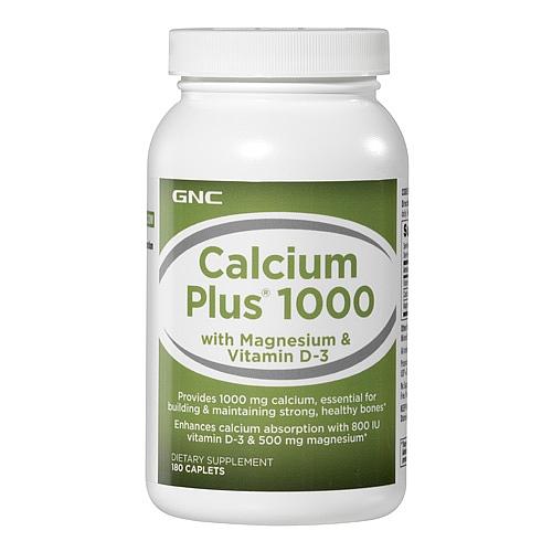 GNC Calcium Plus 1000, Caplets 180 ea - GNC003