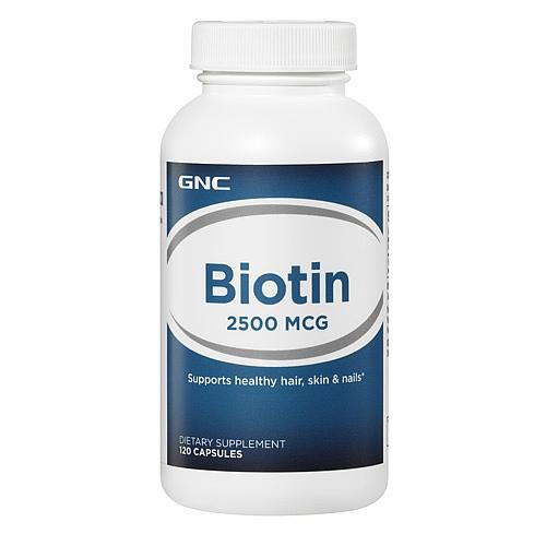 GNC Biotin 2500, Capsules 120 ea - GNC010
