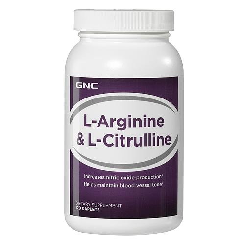 GNC L-Arginine & L-Citrulline, Caplets 120 ea - GNC013