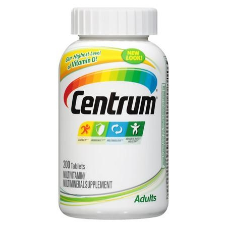 Centrum Adults, Multivitamin, Tablets 200 - CEN003