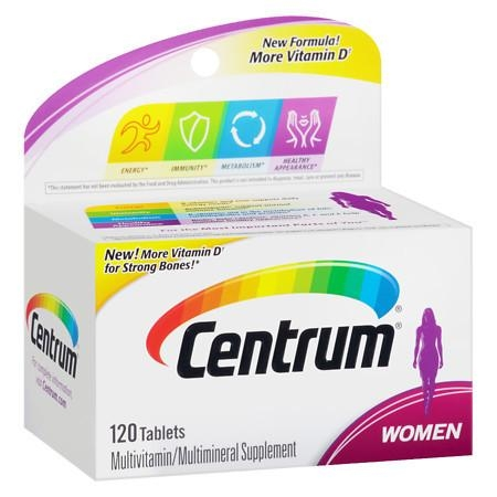 Centrum Women, Multivitamin, Tablets 120 - CEN005