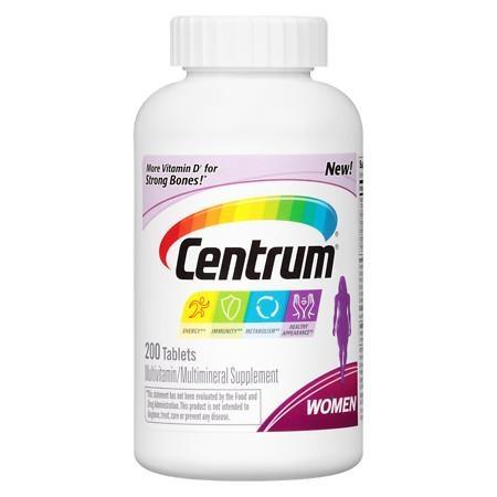 Centrum Women Under 50, Multivitamin, Tablets 200 - CEN007
