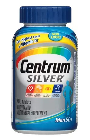Centrum Silver Men 50+ Multivitamin, Tablets 200 - CEN002