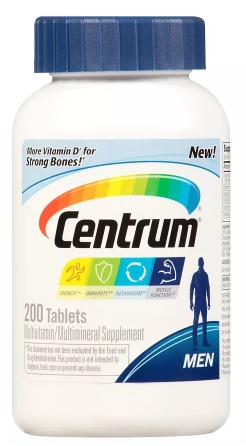 Centrum Men Complete Multivitamin/Multimineral Supplement Tablet 200 - CEN009